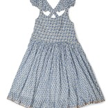 Ujala Blue Crinkle Dress w/ Lurex