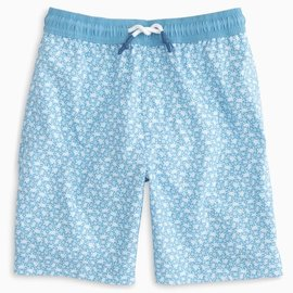 Southern Tide Youth Sea Turtles Swim Trunk Heritage Blue