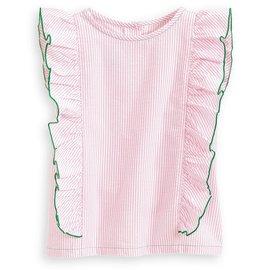 Bella Bliss Ethel Blouse Pink Seersucker Stripe
