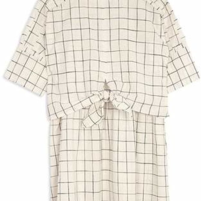 Joes Jeans Kids Tie Front Dress Off White