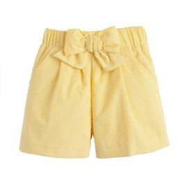 Little English Corduroy Bow Short Buttercup