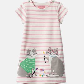 Joules Cat Applique Dress