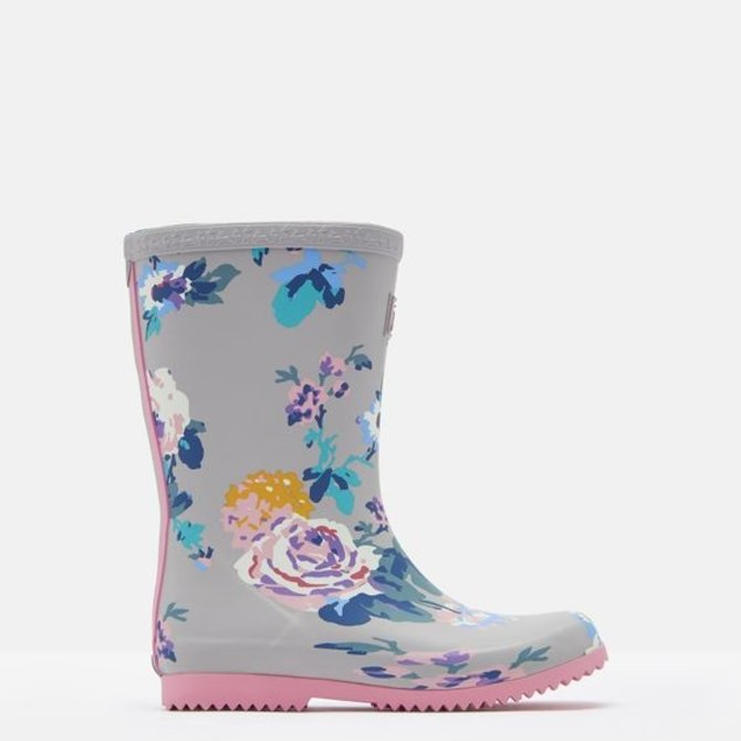 Joules Roll Up Welly Floral