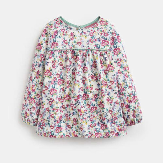 Joules Jersey Smock Top White Ditsy