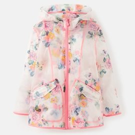 Joules Clear Floral Raincoat