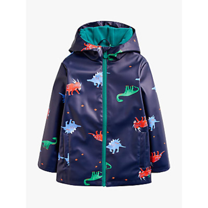 Joules Skipper Showerproof Coat Navy Dino