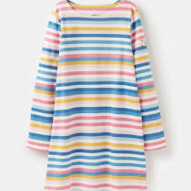 Joules Riveria Shift Dress Multistripe