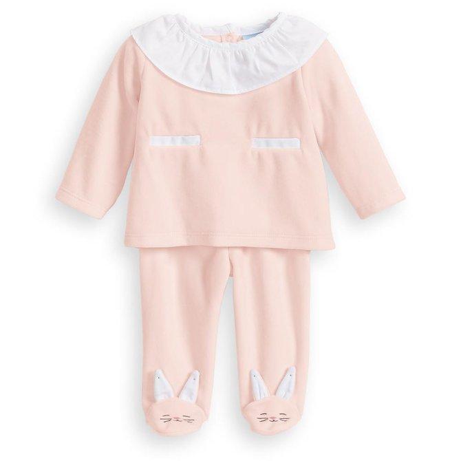 Bella Bliss Maggie Bunny Set Pink Velour
