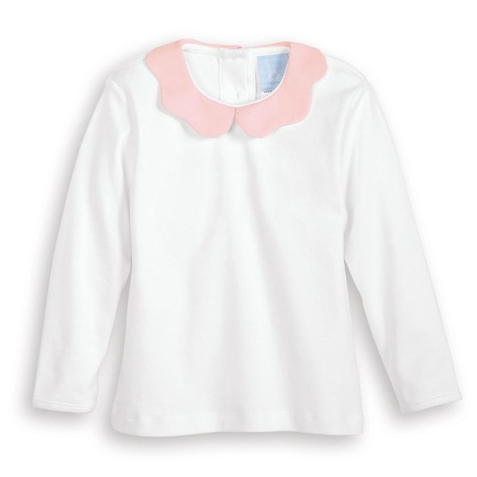 Bella Bliss Fall Clover Pima Blouse Pink