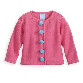 Bella Bliss Pom Pom Cardigan Hot Pink