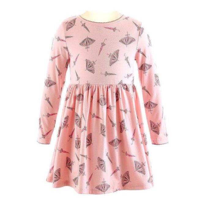 Rachel Riley Umbrella Jersey Dress Pink