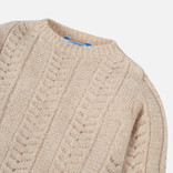 Mayoral Lurex Knit Sweater Golden