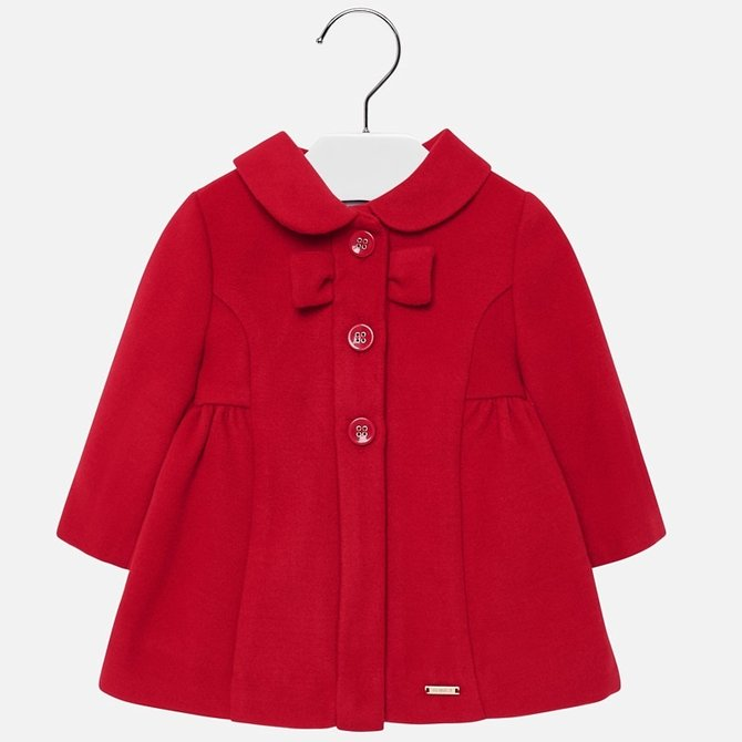 Mayoral Bow Coat Scarlet