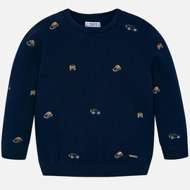 Mayoral Embroidered Sweater Ink