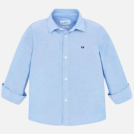 Mayoral Long sleeve basic oxford shirt