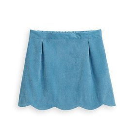 Bella Bliss Scalloped Skirt Lapis Cord
