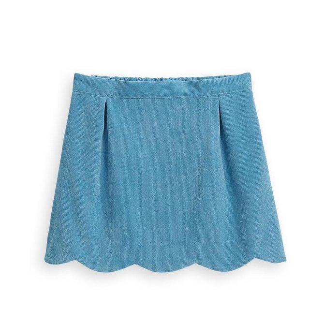 Bella Bliss Scalloped Skirt Lapis Cord