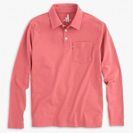 Johnnie-O Kip Longsleeve Polo Malibu Red
