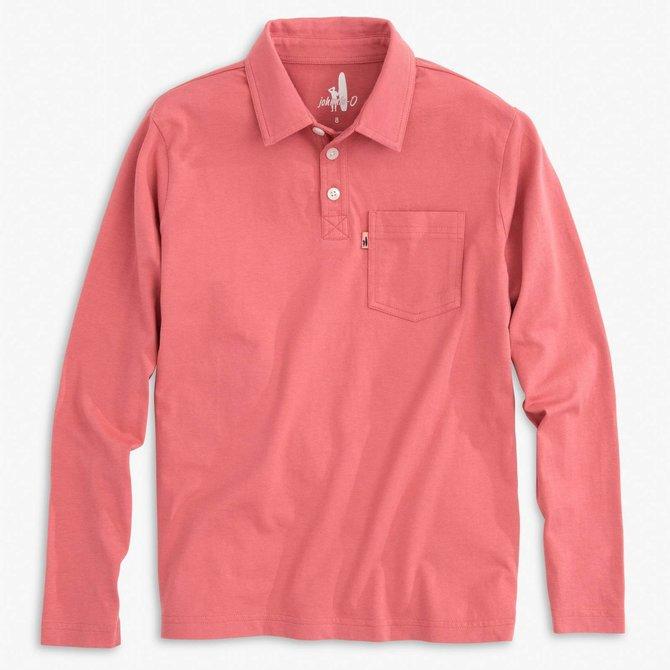 Johnnie-O Longsleeve Polo Malibu Red