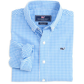 Vineyard Vines Classic Gingham Whale Shirt