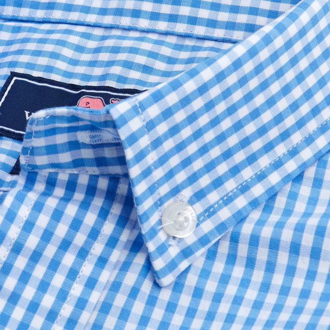 Vineyard Vines Classic Gingham Whale Shirt