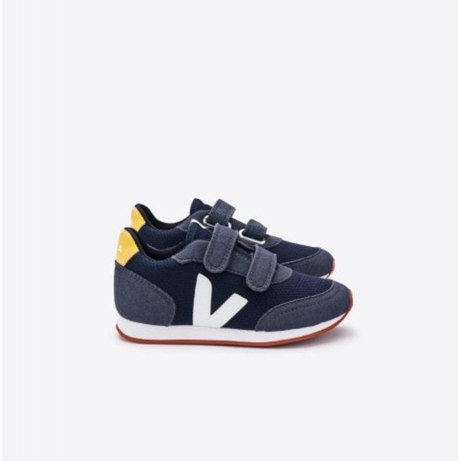 Veja Junior Sneaker Arcade Blue Mesh Nautico White Gold Yellow