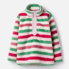 Joules Half Zip Fleece Pink Multi Stripe