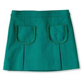 CPC Childrenswear Cara Pleated Skirt Cadium Green