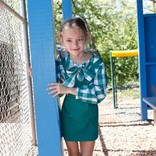 CPC Childrenswear Becca Shirt Cadium Green/Buffalo Check