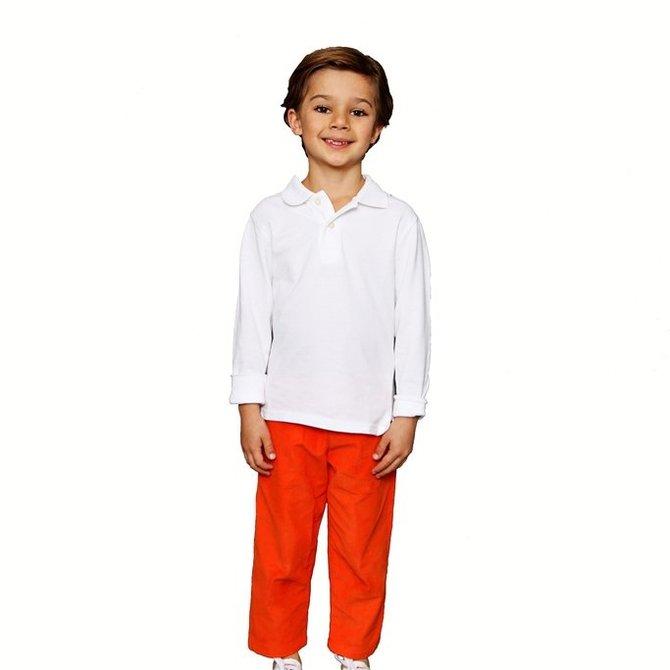 Smiling Button Pumpkin Corduroy Pant