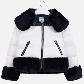 Mayoral Black/White Padded Coat