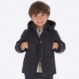 Mayoral Quilted Coat Navy