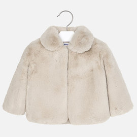 Mayoral Fur Coat Beige