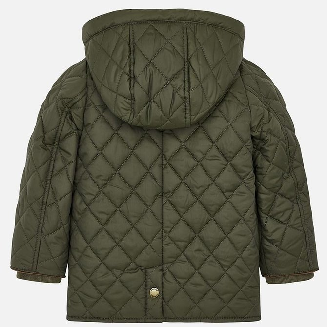 Mayoral Quilted Coat Olive