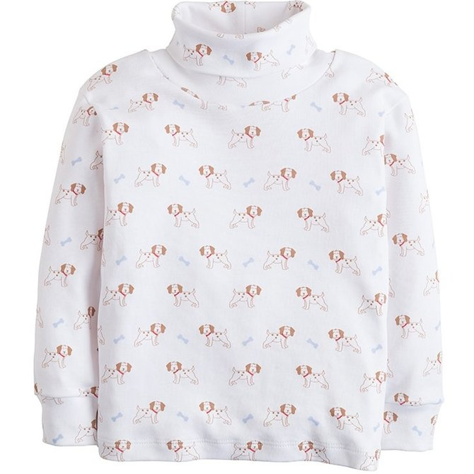 Little English Puppy Printed Turtleneck