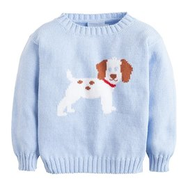 Little English Puppy Intarsia Sweater
