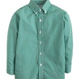 Little English Button Down Shirt Dark Green