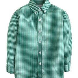 Little English Button Down Shirt Dark Green