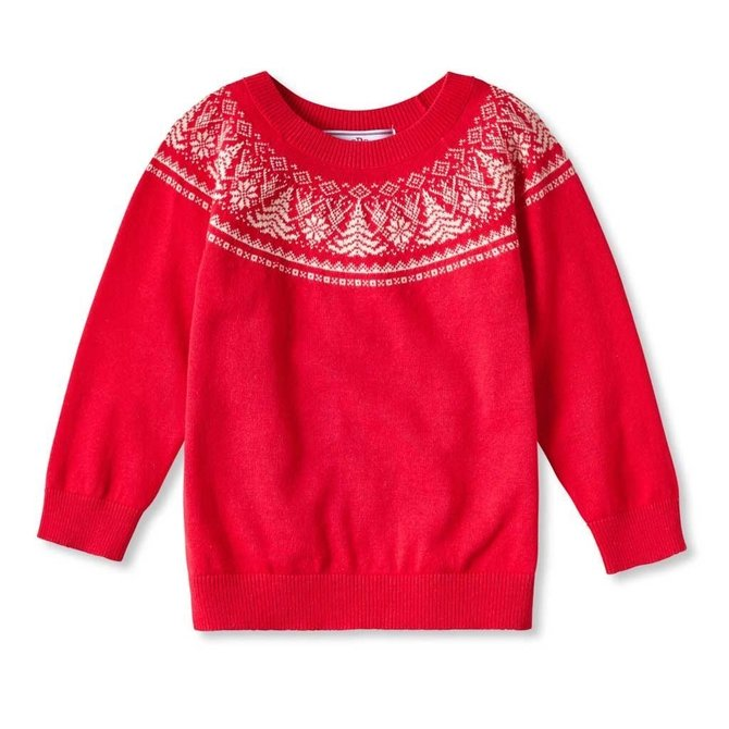 CPC Childrenswear Pine Tree Crew Cotton Fairisle Sweater