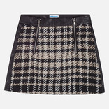 Mayoral Black and White Twill Skirt