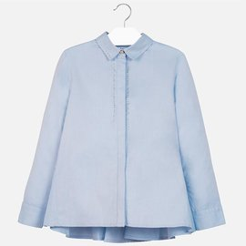 Mayoral Oxford Strass Chambray Blouse