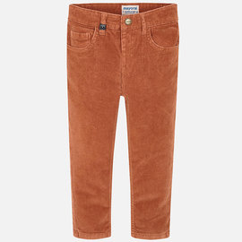 Mayoral Basic Slim Fit Cord Pants Burnt Orange