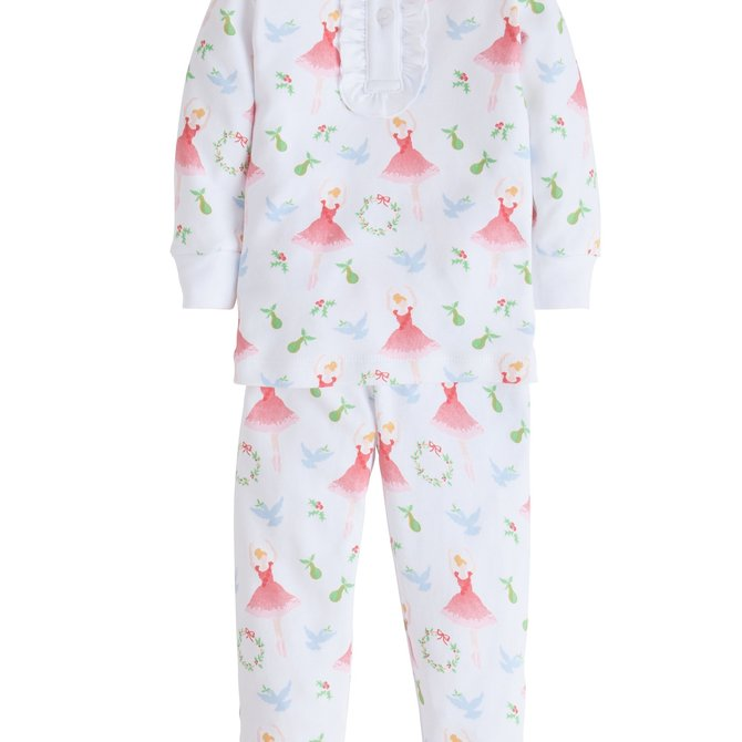 Little English Holly Jolly Pajamas - Ballerina