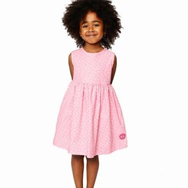 Smiling Button Ballerina Bow Pinny Dress