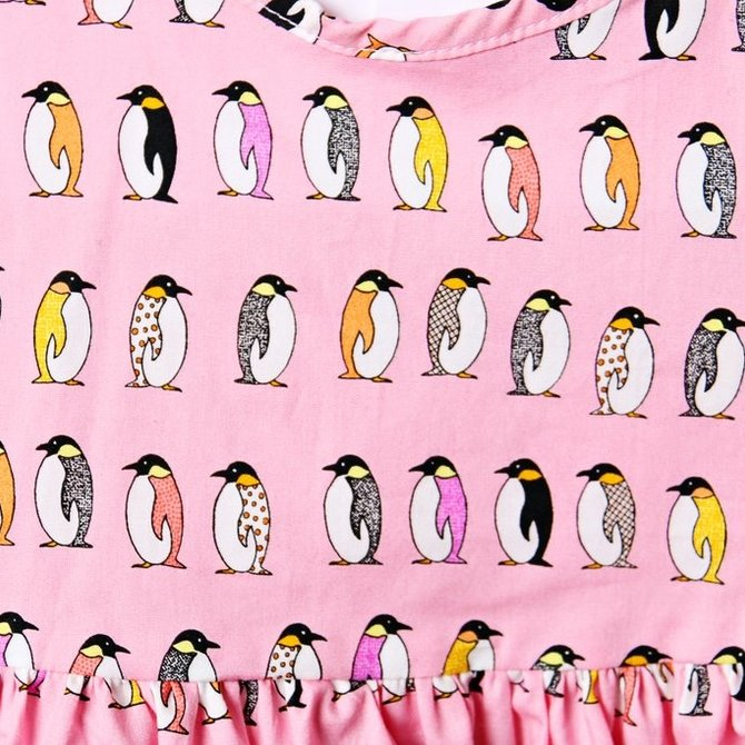 Smiling Button Penguin Parade Winnie Dress