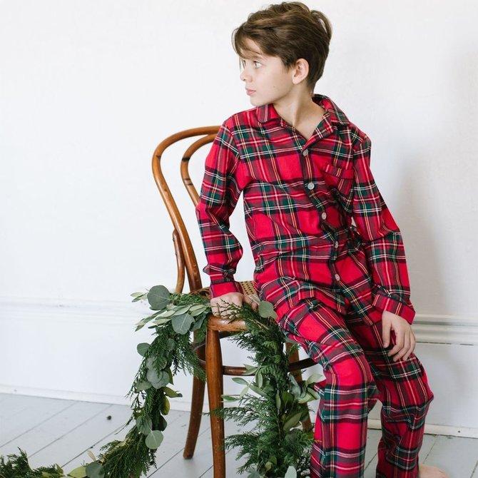 Petite Plume Imperial Tartan Pajama Set
