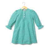 Petite Plume Green Gingham Flannel Beatrice Nightgown