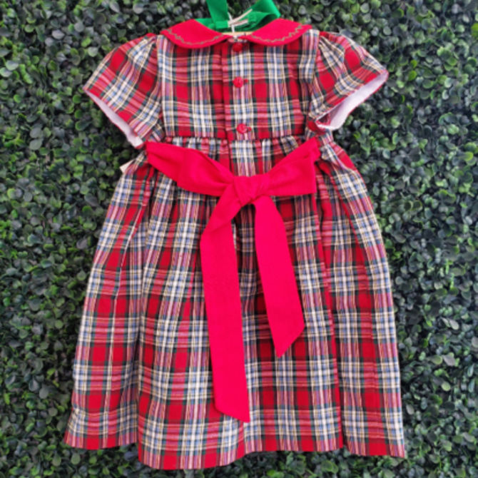 Sophie and Lucas Merry Tartan Dress Red