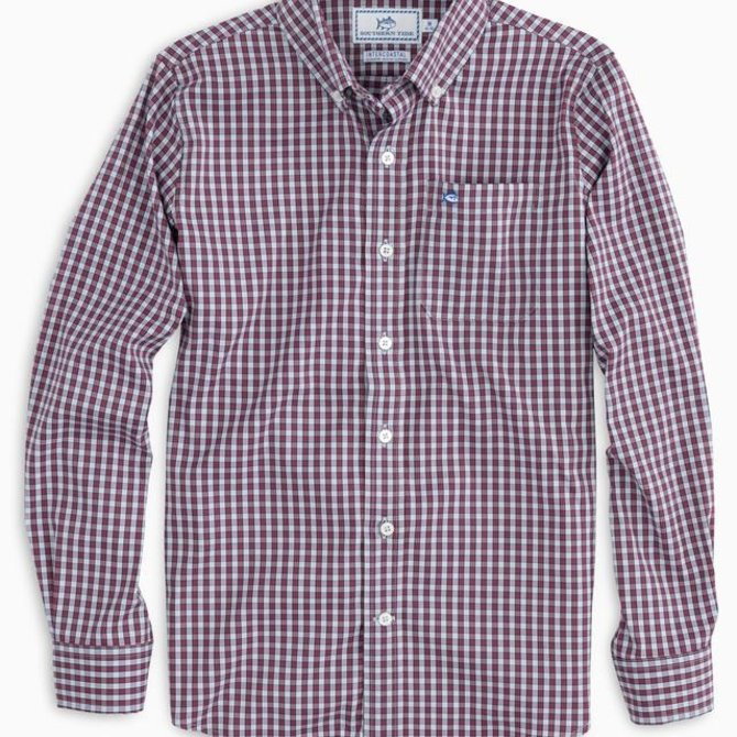 Southern Tide Bluefin Check IC Sportshirt True Red
