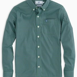 Southern Tide Asilomer Check IC Sportshirt Surf Green